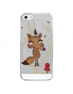 Coque iPhone 5/5S et SE Le Petit Chaperon Rouge Loup Hello Big Wolf Transparente - Maria Jose Da Luz