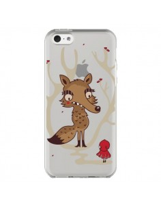 Coque iPhone 5C Le Petit Chaperon Rouge Loup Hello Big Wolf Transparente - Maria Jose Da Luz