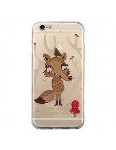 Coque iPhone 6 et 6S Le Petit Chaperon Rouge Loup Hello Big Wolf Transparente - Maria Jose Da Luz