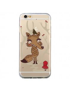 Coque Le Petit Chaperon Rouge Loup Hello Big Wolf Transparente pour iPhone 6 et 6S - Maria Jose Da Luz