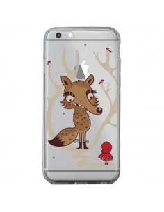 Coque iPhone 6 Plus et 6S Plus Le Petit Chaperon Rouge Loup Hello Big Wolf Transparente - Maria Jose Da Luz
