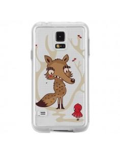 Coque Le Petit Chaperon Rouge Loup Hello Big Wolf Transparente pour Samsung Galaxy S5 - Maria Jose Da Luz