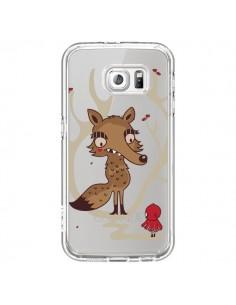 Coque Le Petit Chaperon Rouge Loup Hello Big Wolf Transparente pour Samsung Galaxy S6 - Maria Jose Da Luz