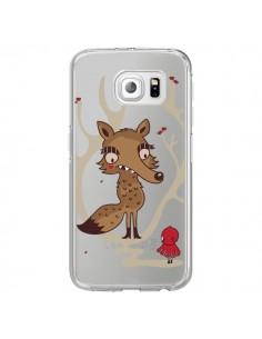 Coque Le Petit Chaperon Rouge Loup Hello Big Wolf Transparente pour Samsung Galaxy S6 Edge - Maria Jose Da Luz