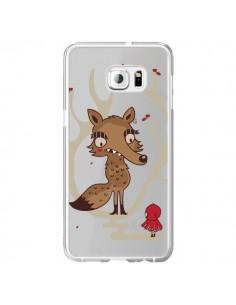 Coque Le Petit Chaperon Rouge Loup Hello Big Wolf Transparente pour Samsung Galaxy S6 Edge Plus - Maria Jose Da Luz