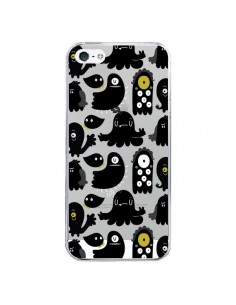 Coque iPhone 5/5S et SE Monsters Monstres Pattern Transparente - Maria Jose Da Luz