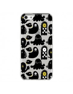 Coque iPhone 5C Monsters Monstres Pattern Transparente - Maria Jose Da Luz