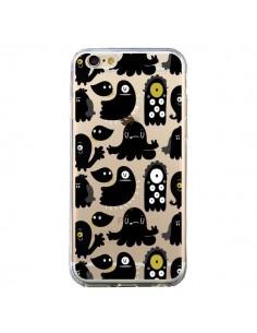 Coque iPhone 6 et 6S Monsters Monstres Pattern Transparente - Maria Jose Da Luz