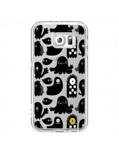 Coque Monsters Monstres Pattern Transparente pour Samsung Galaxy S6 - Maria Jose Da Luz