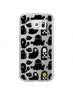 Coque Monsters Monstres Pattern Transparente pour Samsung Galaxy S6 Edge - Maria Jose Da Luz