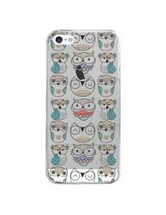 Coque Chouettes Owl Hibou Transparente pour iPhone 5 et 5S - Maria Jose Da Luz