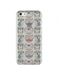 Coque Chouettes Owl Hibou Transparente pour iPhone 5C - Maria Jose Da Luz