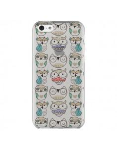 Coque iPhone 5C Chouettes Owl Hibou Transparente - Maria Jose Da Luz