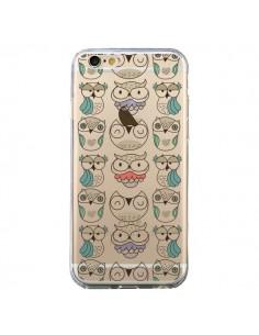 Coque Chouettes Owl Hibou Transparente pour iPhone 6 et 6S - Maria Jose Da Luz
