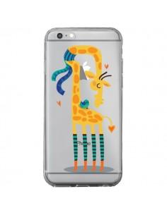 Coque L'oiseau et la Girafe Amour Love Transparente pour iPhone 6 Plus et 6S Plus - Maria Jose Da Luz