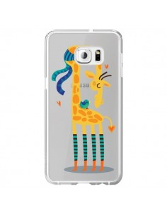 Coque L'oiseau et la Girafe Amour Love Transparente pour Samsung Galaxy S6 Edge Plus - Maria Jose Da Luz