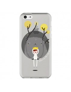 Coque Monstre Princesse Transparente pour iPhone 5C - Maria Jose Da Luz