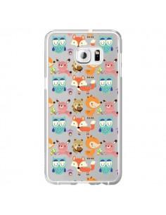 Coque Renard Ecureuil Lapin Hibou Transparente pour Samsung Galaxy S6 Edge Plus - Maria Jose Da Luz