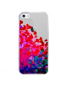 Coque iPhone 5/5S et SE Creation in Color Pink Rose Transparente - Ebi Emporium