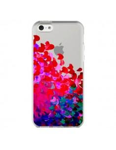Coque Creation in Color Pink Rose Transparente pour iPhone 5C - Ebi Emporium