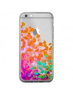 Coque Creation in Color Orange Transparente pour iPhone 6 Plus et 6S Plus - Ebi Emporium