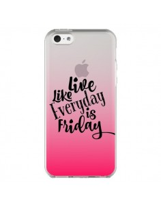 Coque iPhone 5C Everyday Friday Vendredi Live Vis Transparente - Ebi Emporium