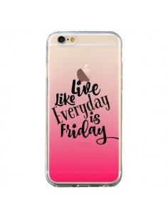 Coque iPhone 6 et 6S Everyday Friday Vendredi Live Vis Transparente - Ebi Emporium