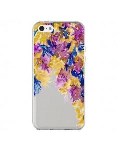 Coque iPhone 5C Cascade Florale Transparente - Ebi Emporium