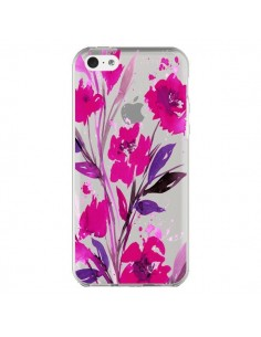 Coque iPhone 5C Roses Fleur Flower Transparente - Ebi Emporium