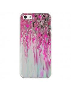 Coque iPhone 5C Tempête Rose Transparente - Ebi Emporium