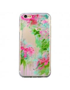 Coque iPhone 6 et 6S Fleur Flower Rose Vert Transparente - Ebi Emporium