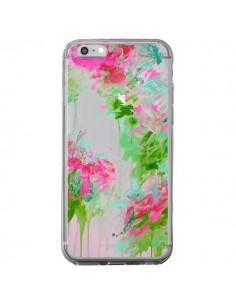 Coque Fleur Flower Rose Vert Transparente pour iPhone 6 Plus et 6S Plus - Ebi Emporium