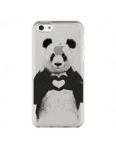 Coque Panda All You Need Is Love Transparente pour iPhone 5C - Balazs Solti