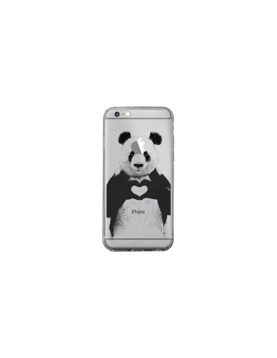 coque iphone 6 transparente panda
