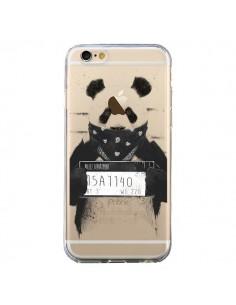 Coque iPhone 6 et 6S Bad Panda Transparente - Balazs Solti