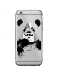 Coque iPhone 6 Plus et 6S Plus Funny Panda Moustache Transparente - Balazs Solti