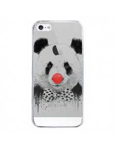 Coque iPhone 5/5S et SE Clown Panda Transparente - Balazs Solti