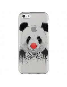 Coque iPhone 5C Clown Panda Transparente - Balazs Solti