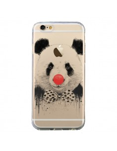 Coque iPhone 6 et 6S Clown Panda Transparente - Balazs Solti