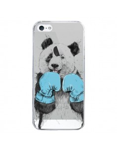 Coque iPhone 5/5S et SE Winner Panda Gagnant Transparente - Balazs Solti