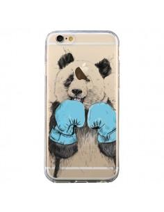 Coque iPhone 6 et 6S Winner Panda Gagnant Transparente - Balazs Solti