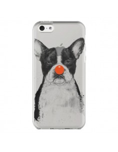 Coque Clown Bulldog Dog Chien Transparente pour iPhone 5C - Balazs Solti