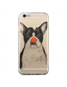 Coque iPhone 6 et 6S Clown Bulldog Dog Chien Transparente - Balazs Solti