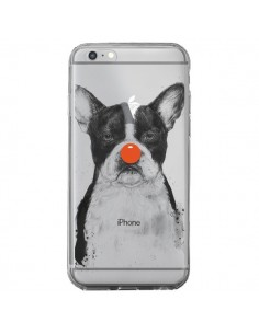 Coque Clown Bulldog Dog Chien Transparente pour iPhone 6 Plus et 6S Plus - Balazs Solti