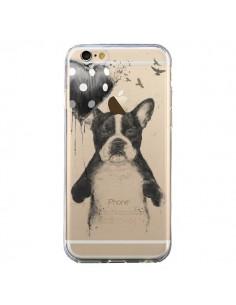 Coque Love Bulldog Dog Chien Transparente pour iPhone 6 et 6S - Balazs Solti