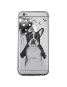 Coque Love Bulldog Dog Chien Transparente pour iPhone 6 Plus et 6S Plus - Balazs Solti