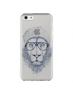 Coque iPhone 5C Cool Lion Swag Lunettes Transparente - Balazs Solti