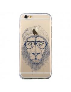 Coque Cool Lion Swag Lunettes Transparente pour iPhone 6 et 6S - Balazs Solti