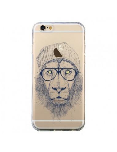Coque iPhone 6 et 6S Cool Lion Swag Lunettes Transparente - Balazs Solti