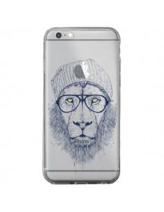 Coque Cool Lion Swag Lunettes Transparente pour iPhone 6 Plus et 6S Plus - Balazs Solti